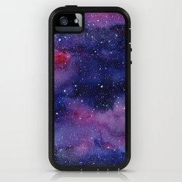 Watercolor Galaxy Nebula Pink Purple Sky Stars iPhone Case