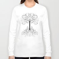 gondor Long Sleeve T-shirts featuring The White Tree by Danny Schlitz