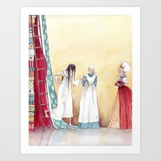 Black and Blue all over - From The Princess and the Pea - By: Hans Christian Andersen Art Print
