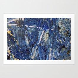 Blue painting  Art Print