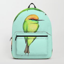 Green bee eater Backpack