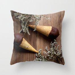 Ice creams Throw Pillow