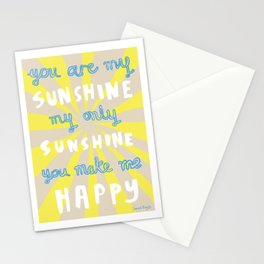 You are my sunshine Stationery Cards