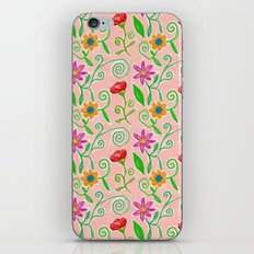 Lovely Colorful Floral Pattern iPhone & iPod Skin