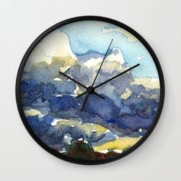Rain in the Desert Wall Clock