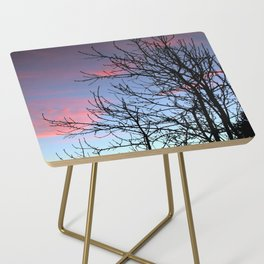Skyscapes Pink Skies Silhouette Side Table