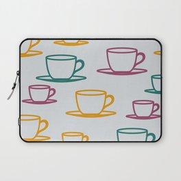 Teacups - multicolored Laptop Sleeve