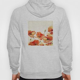 Poppy Flower Meadow- Floral Summer lllustration Hoody