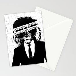 Let the lion win Stationery Cards