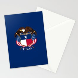 Texas flag and eagle crest concept Stationery Cards