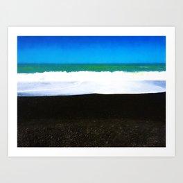 Napier Waves Art Print