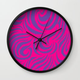 IRON of STEEL Pink on Purple  Wall Clock