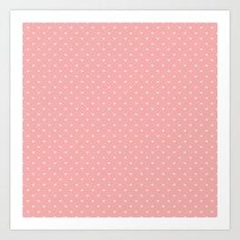 Two Tone Bright Blush Pink Mini Love Hearts Art Print