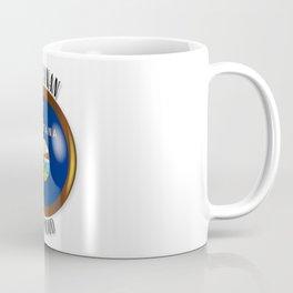 Montana Proud Flag Button Coffee Mug