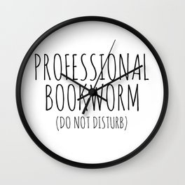 Professional Bookworm Wall Clock