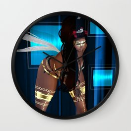 Dance Life Paradise - Black Goddess 1 Wall Clock