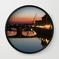 florence Wall Clocks featuring Florence  by AntWoman