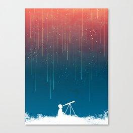 Meteor Rain (light version) Canvas Print