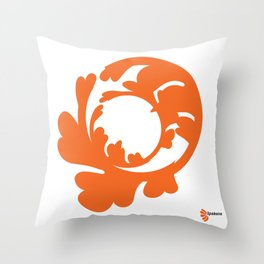 BLAZE ORANGE : live your purpose Throw Pillow