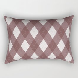 Pantone Red Pear Argyle Plaid Diamond Pattern Rectangular Pillow