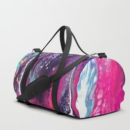 Waterfall Acrylic Pour Duffle Bag