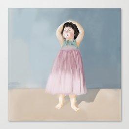 A girl Canvas Print