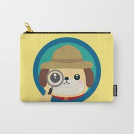 Dog detective with magnifying glass Carry-All Pouch