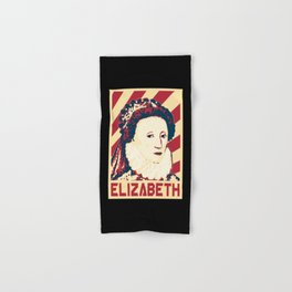 Queen Elizabeth Of England Retro Propaganda Hand & Bath Towel