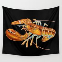 maine Wall Tapestries featuring Maine Lobster by Tim Jeffs Art