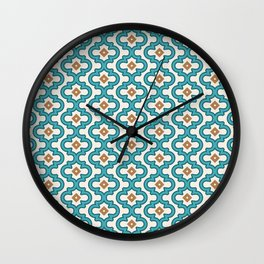 Indie Spice: Turquoise Interlock Wall Clock