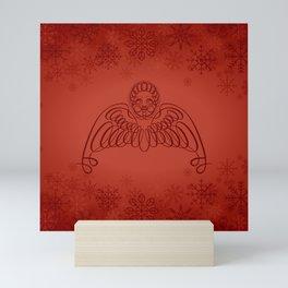 Winter Angel - Xmas Red Mini Art Print