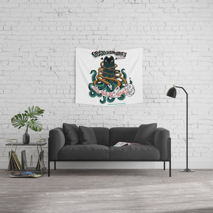 Obsidian Waves Wall Tapestry