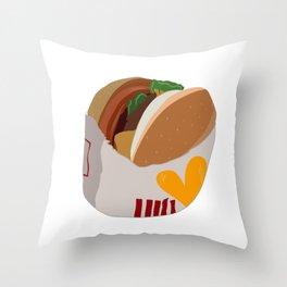 Burger Life Throw Pillow