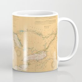 Vintage Map of The Great Lakes (1921) Coffee Mug