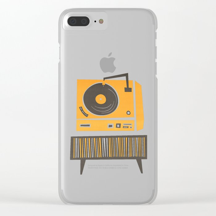 Vinyl Deck Clear iPhone Case