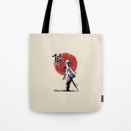 white samurai Tote Bag