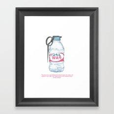 water bottle grenade  Framed Art Print