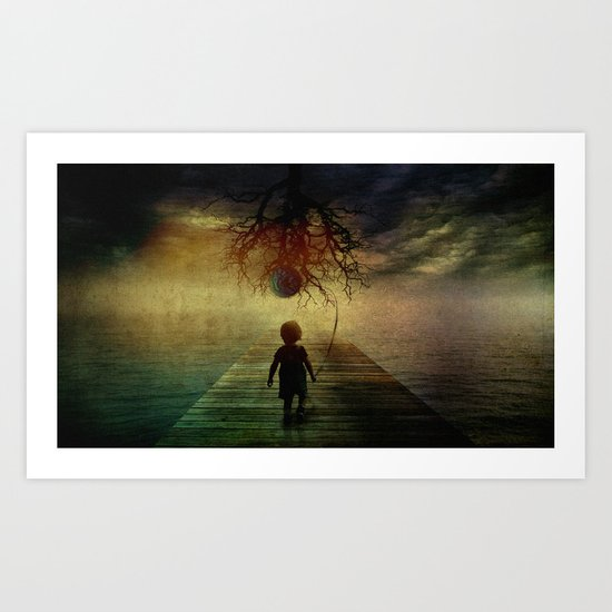 if I walk to you Art Print