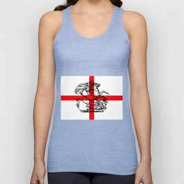 George and the Dragon Patriotic Flag Unisex Tank Top