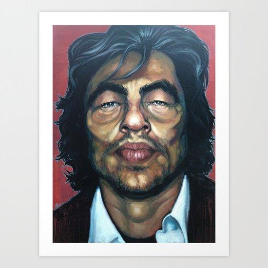 Benecio Del Toro Art Print
