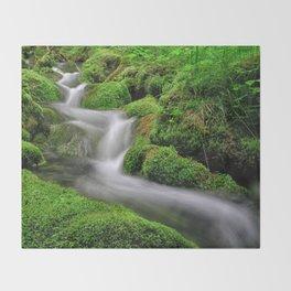 Flowing water Throw Blanket