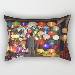 Colored lanterns Rectangular Pillow