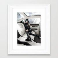vinyl Framed Art Prints featuring Vinyl by Yvan Quinet