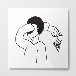 Passe-moi une pizz Metal Print