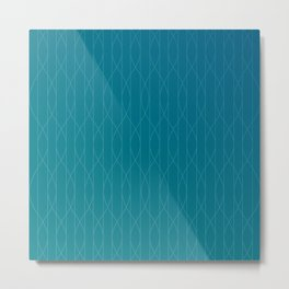 Wave pattern in teal Metal Print