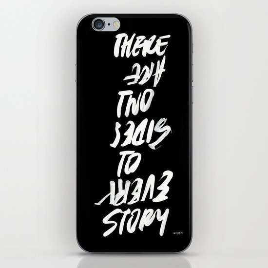 TWO SIDES iPhone & iPod Skin