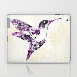 Purple Hummingbird Art Laptop & iPad Skin