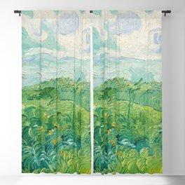 Green Wheat Fields, Auvers, 1890, Vincent van Gogh Blackout Curtain