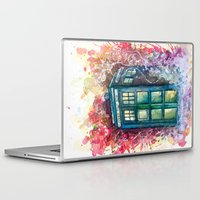 doctor Laptop & iPad Skins featuring Doctor Who Tardis by Jessi Adrignola