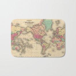 Vintage Map of The World (1860) Bath Mat